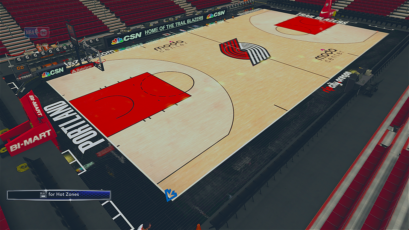2017-2018 Portland Trail Blazers Official Court
