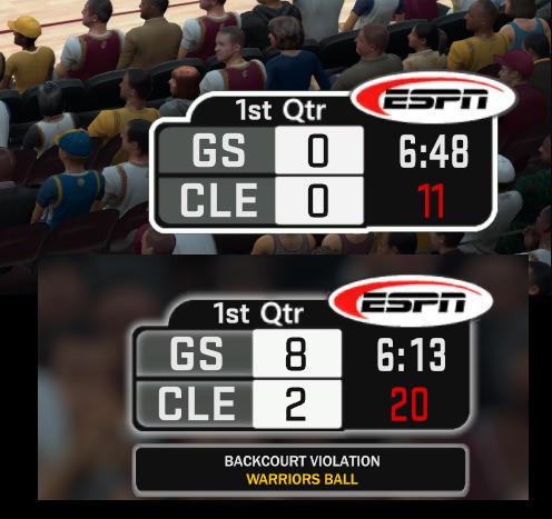 2003 ESPN Scoreboard for 2K18 and 2K17