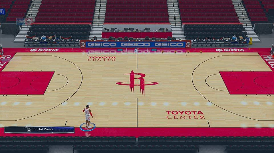 2017-2018 Houston Rockets Official Court (Next-Gen Version)