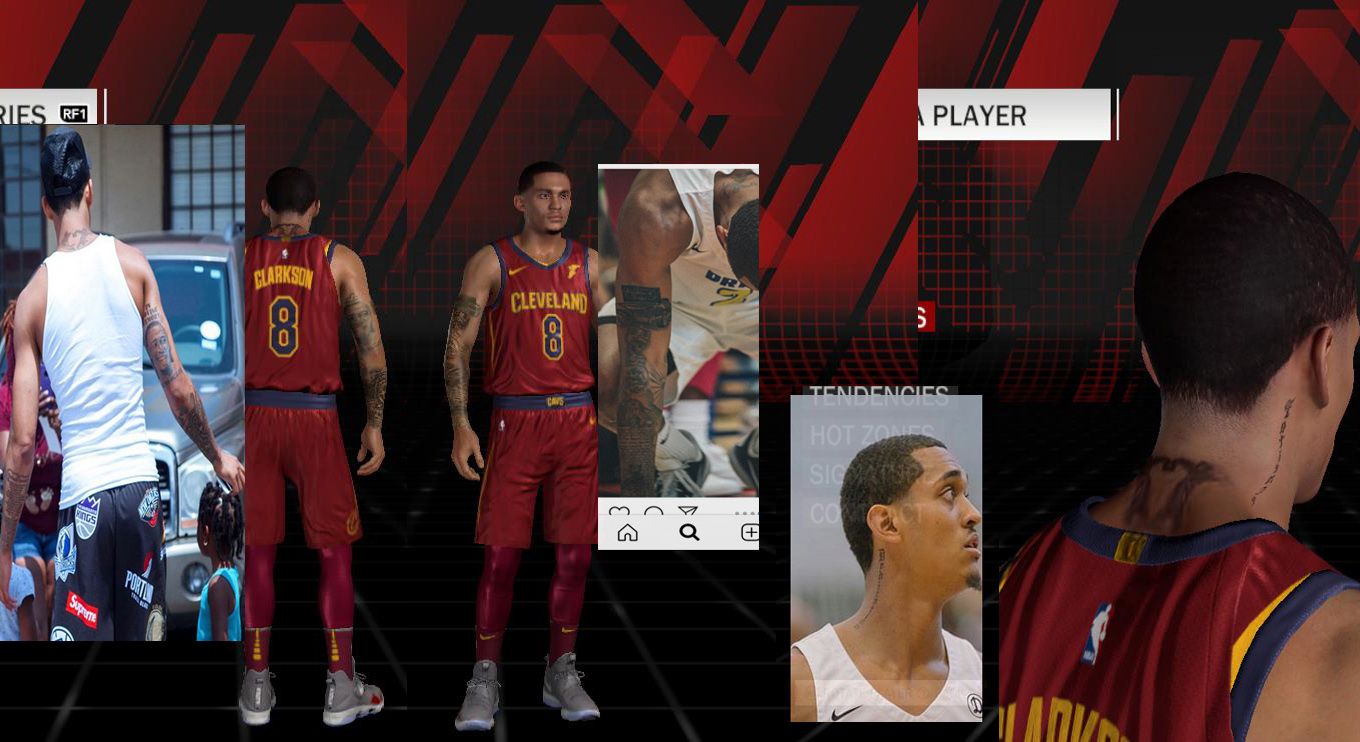 Jordan Clarkson Face & Tattoos