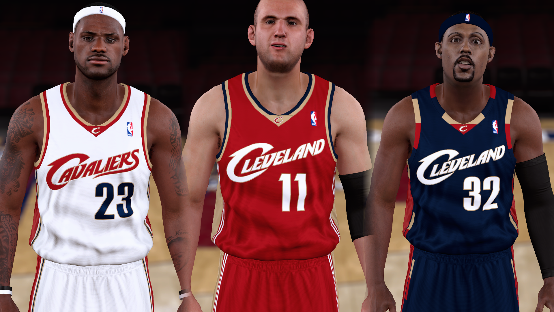 2006-2007 Cavaliers Jerseys - PeacemanNOT