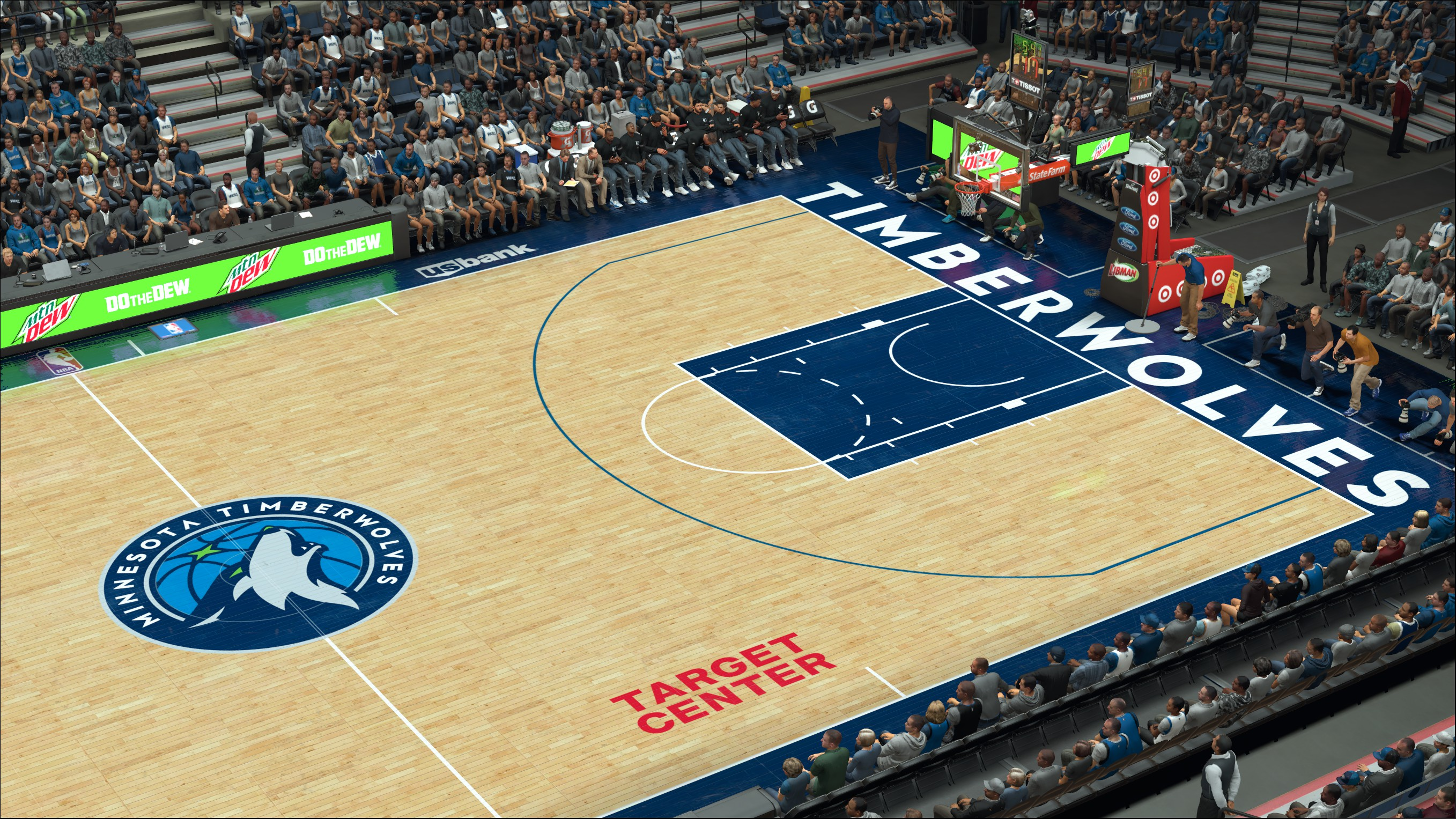 Minnesota Timberwolves 2017-2018 Court