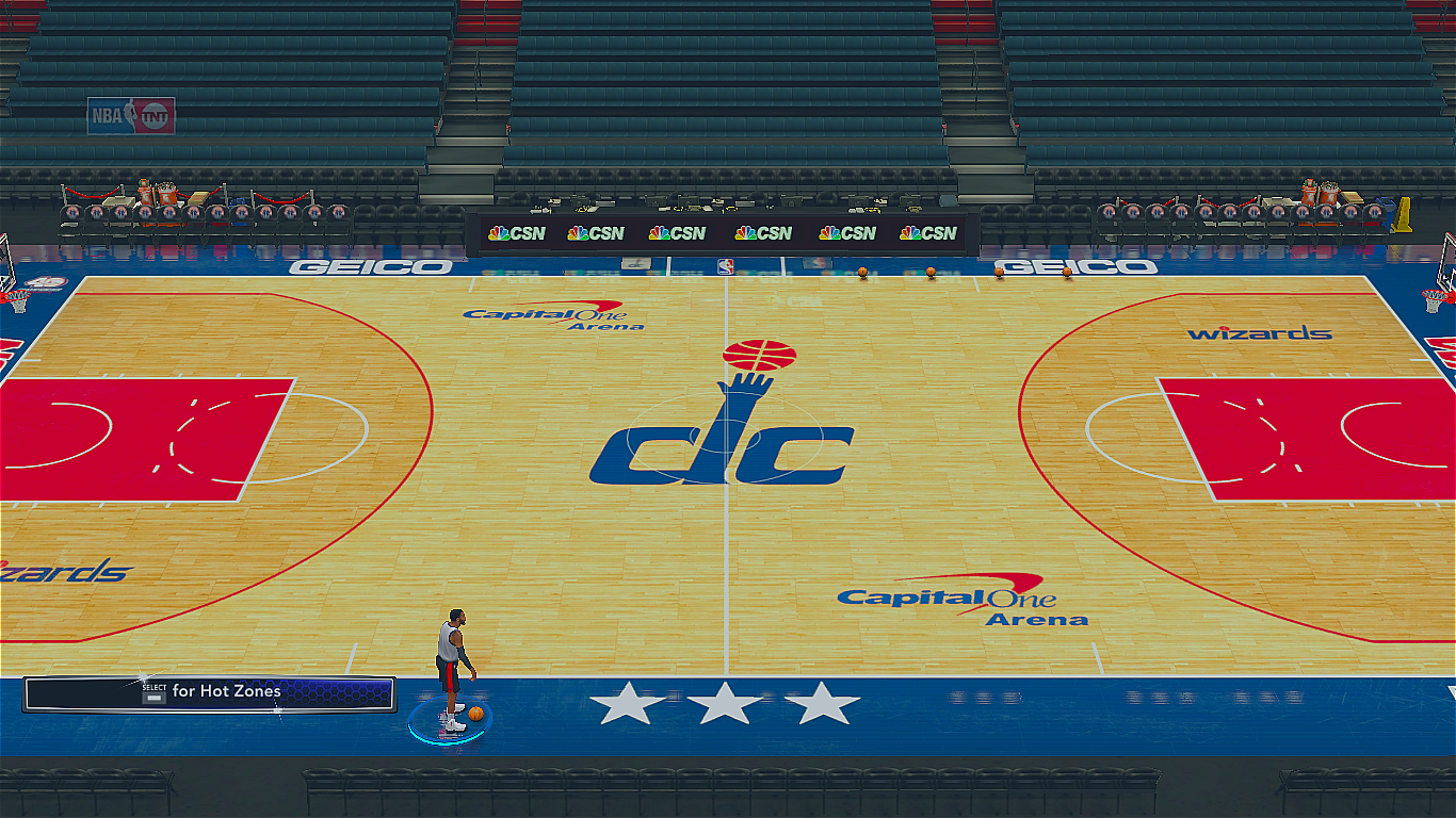 2017-2018 Washington Wizards Official Court