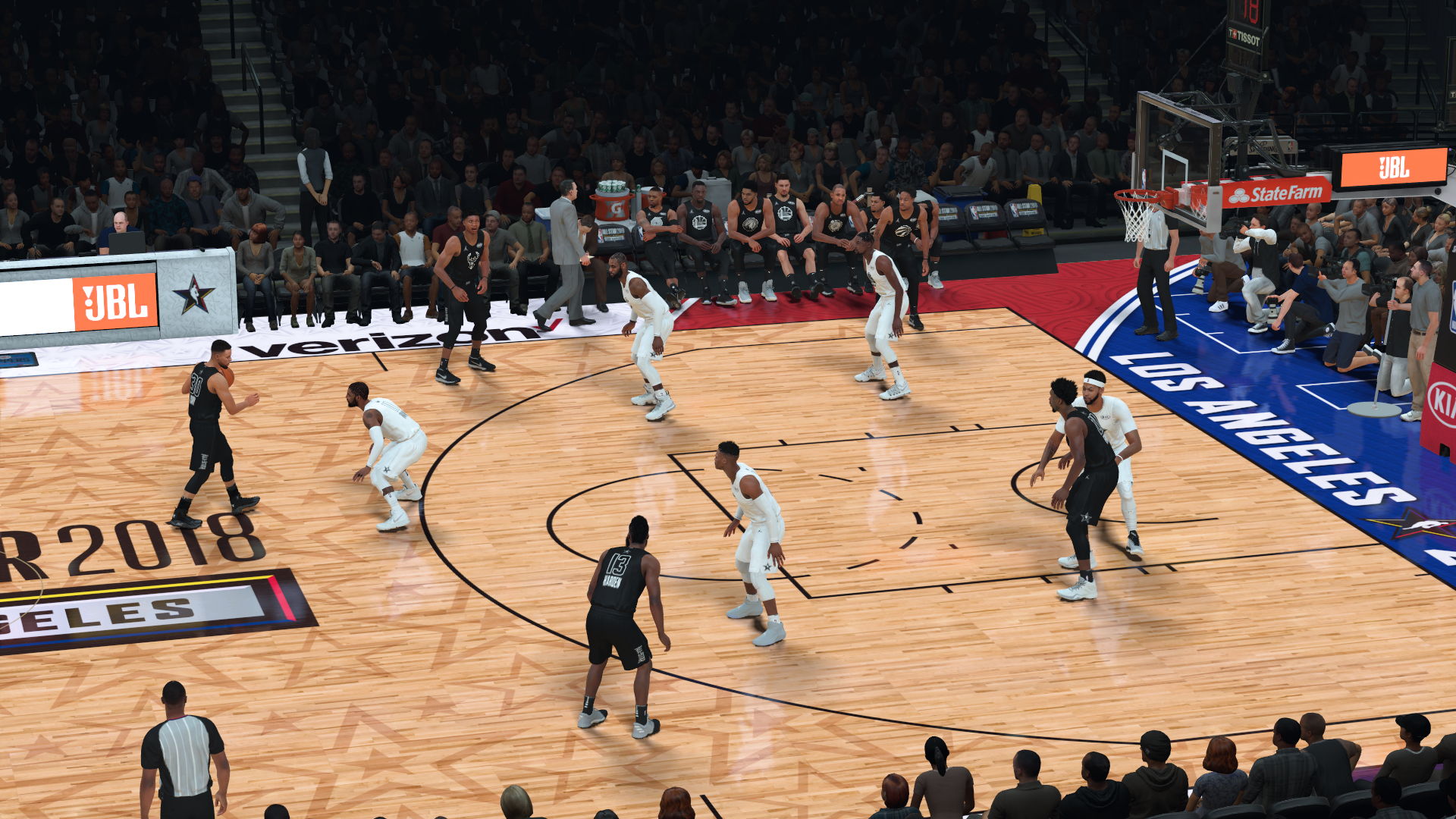 2018 NBA All-Star Game Courts
