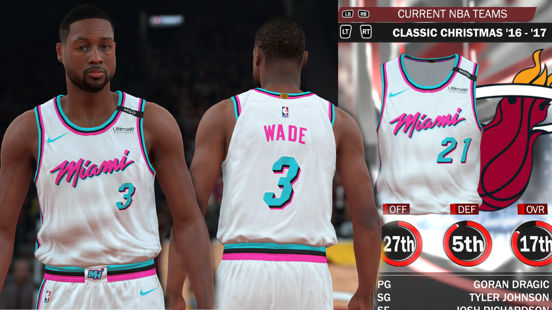 Miami Heat Vice City Jersey with MSD Patch (pinoy21)
