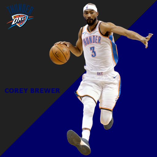 Corey Brewer OKC Portrait