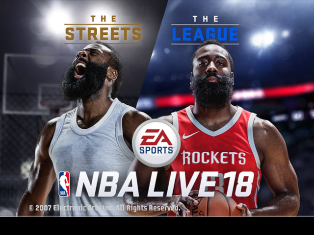 NBA Live 18 James Harden Title Screen