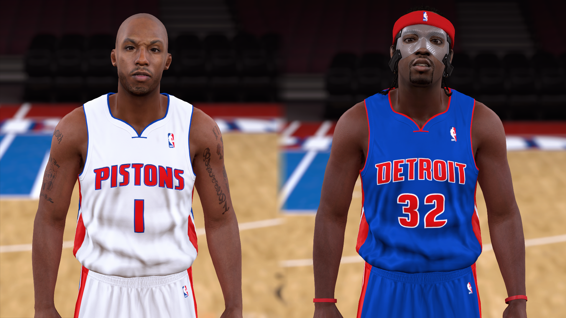 2003-2004 Pistons Jerseys - PeacemanNOT
