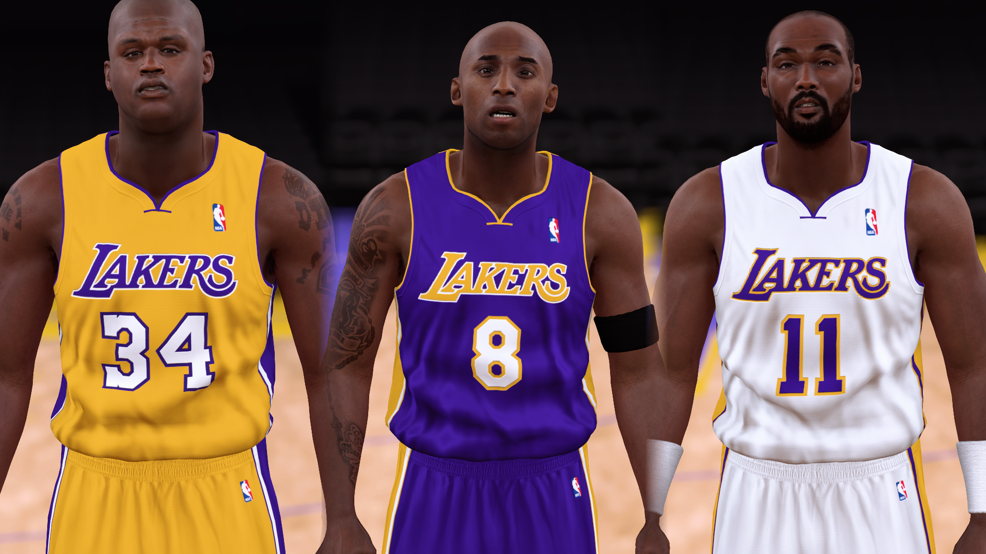 2003-2004 Lakers Jerseys - PeacemanNOT