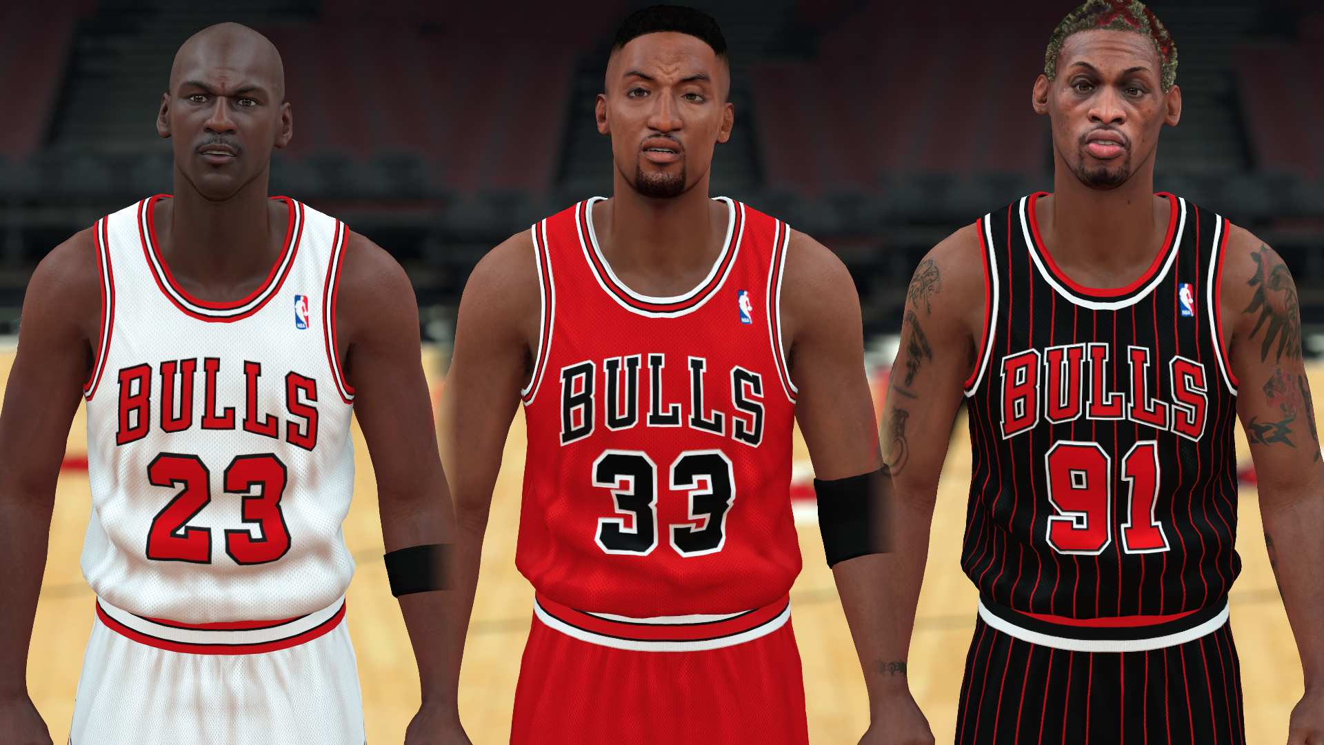 1995-1996 Bulls Jerseys - PeacemanNOT