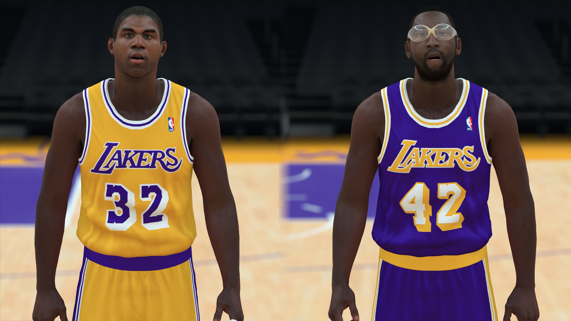 1990-1991 Lakers Jerseys - PeacemanNOT