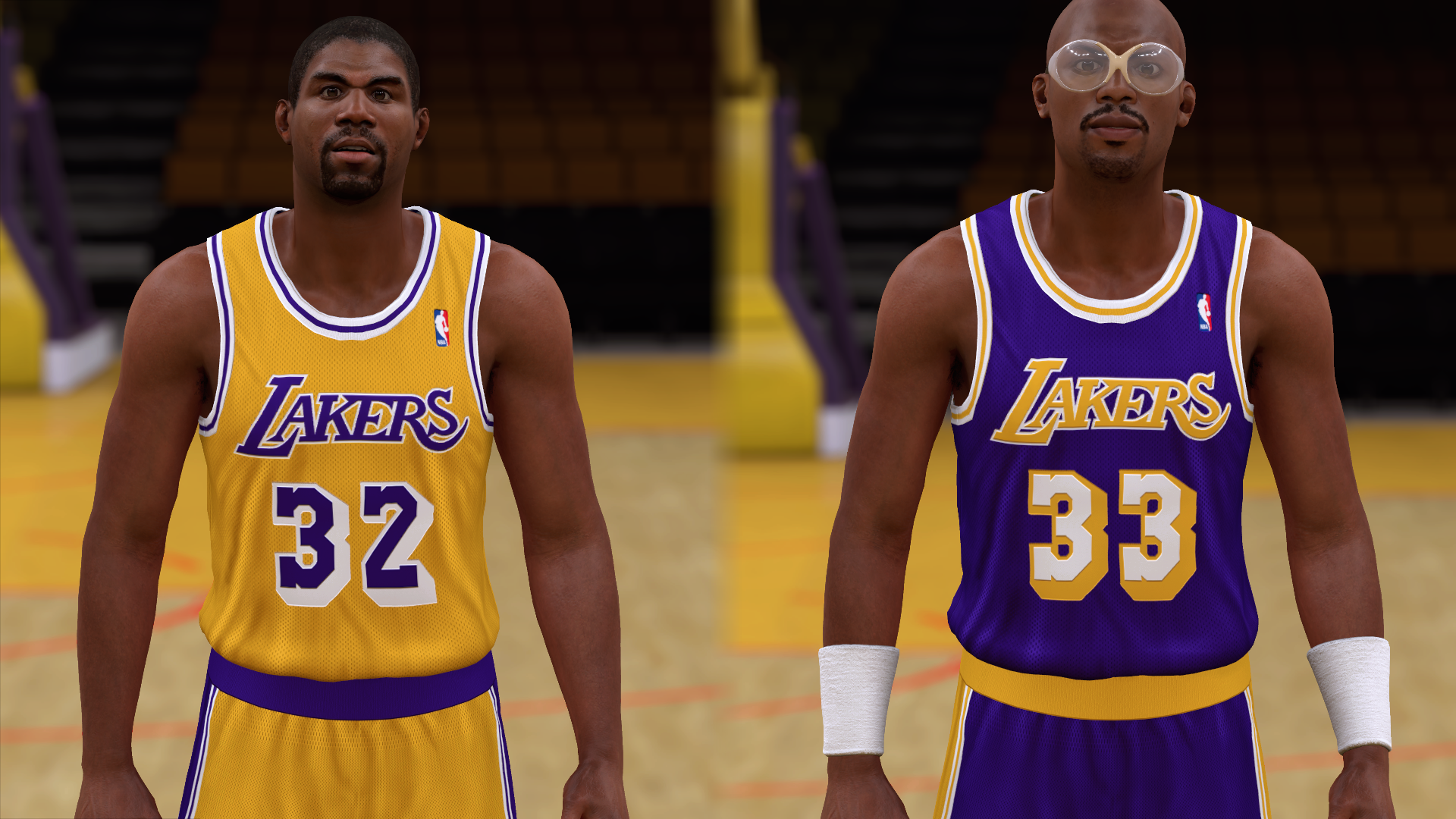 1986-1987 Lakers Jerseys - PeacemanNOT
