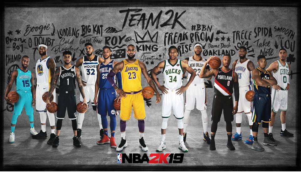 NBA 2K19 Team 2K Title Screen