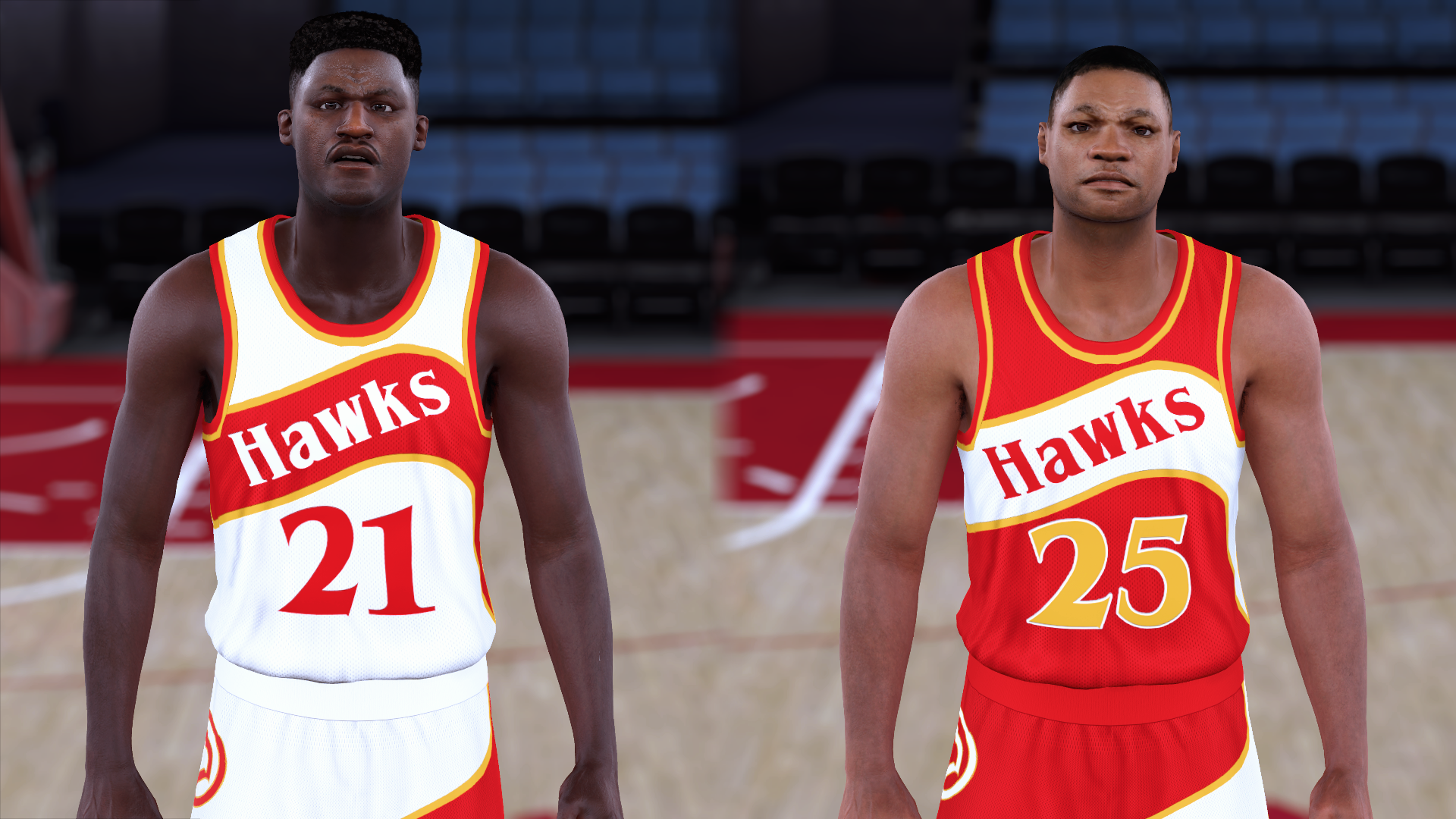 1985-1986 Hawks Jerseys - PeacemanNOT