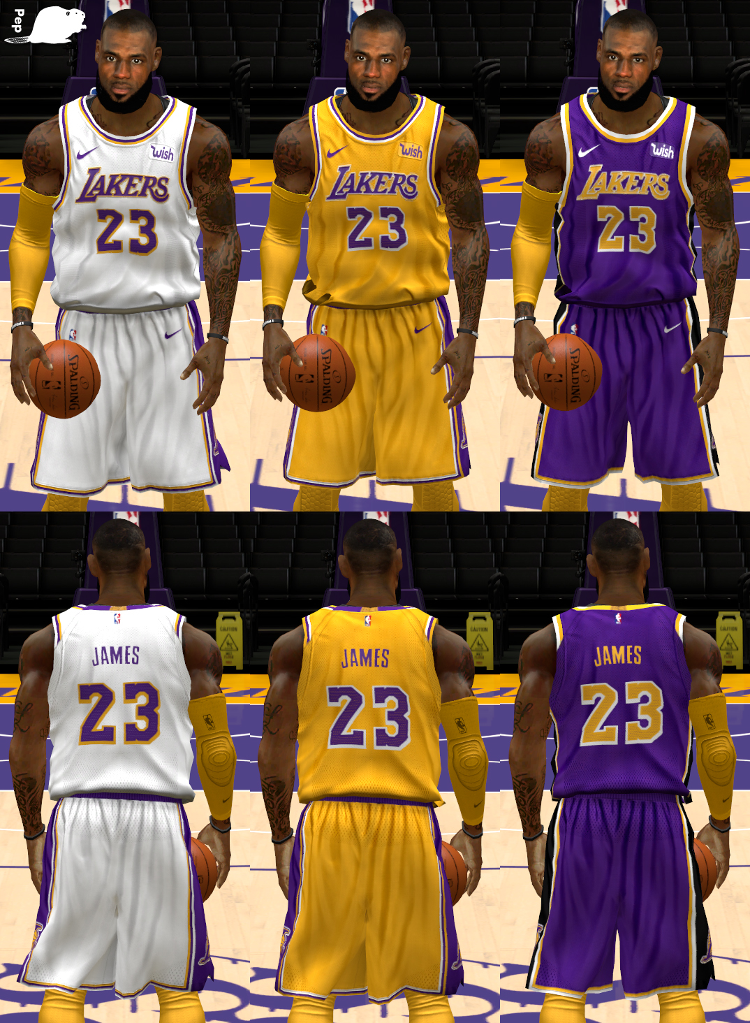 NLSC Forum • Downloads - NBA Nike Los Angeles Lakers 2018 Uniforms e1730c87b