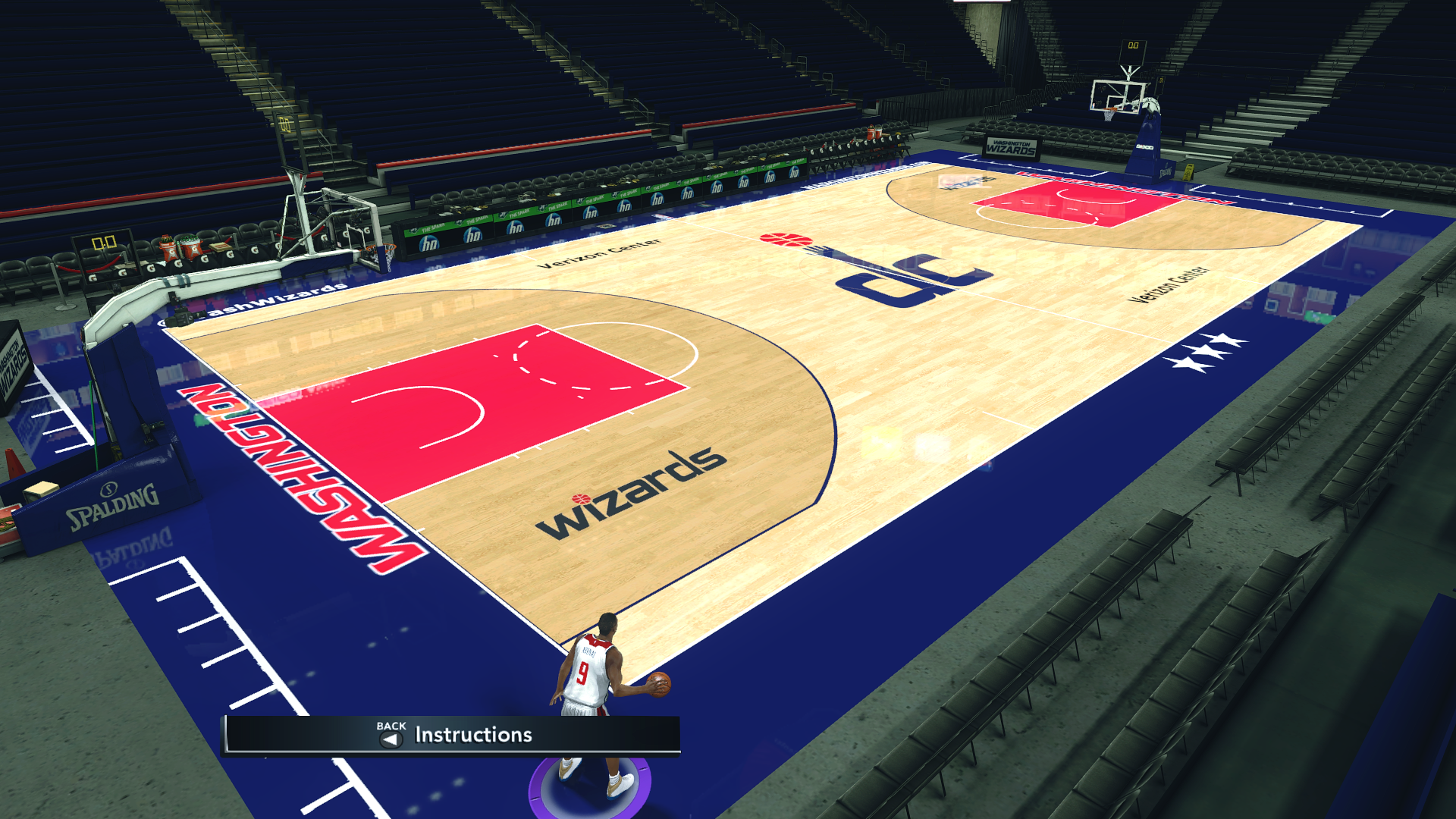 Washington Wizards 2018-19 Court
