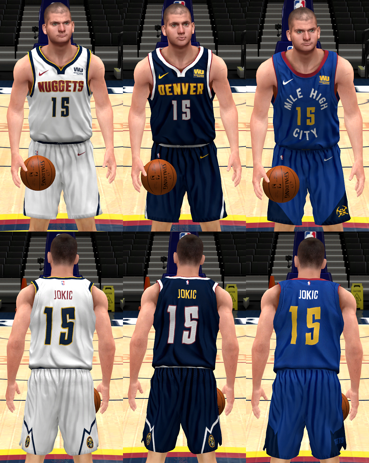 NBA Nike Denver Nuggets 2018 Uniforms