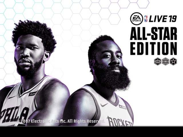 NBA Live 19 All-Star Edition Title Screen