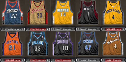nba alternate jerseys