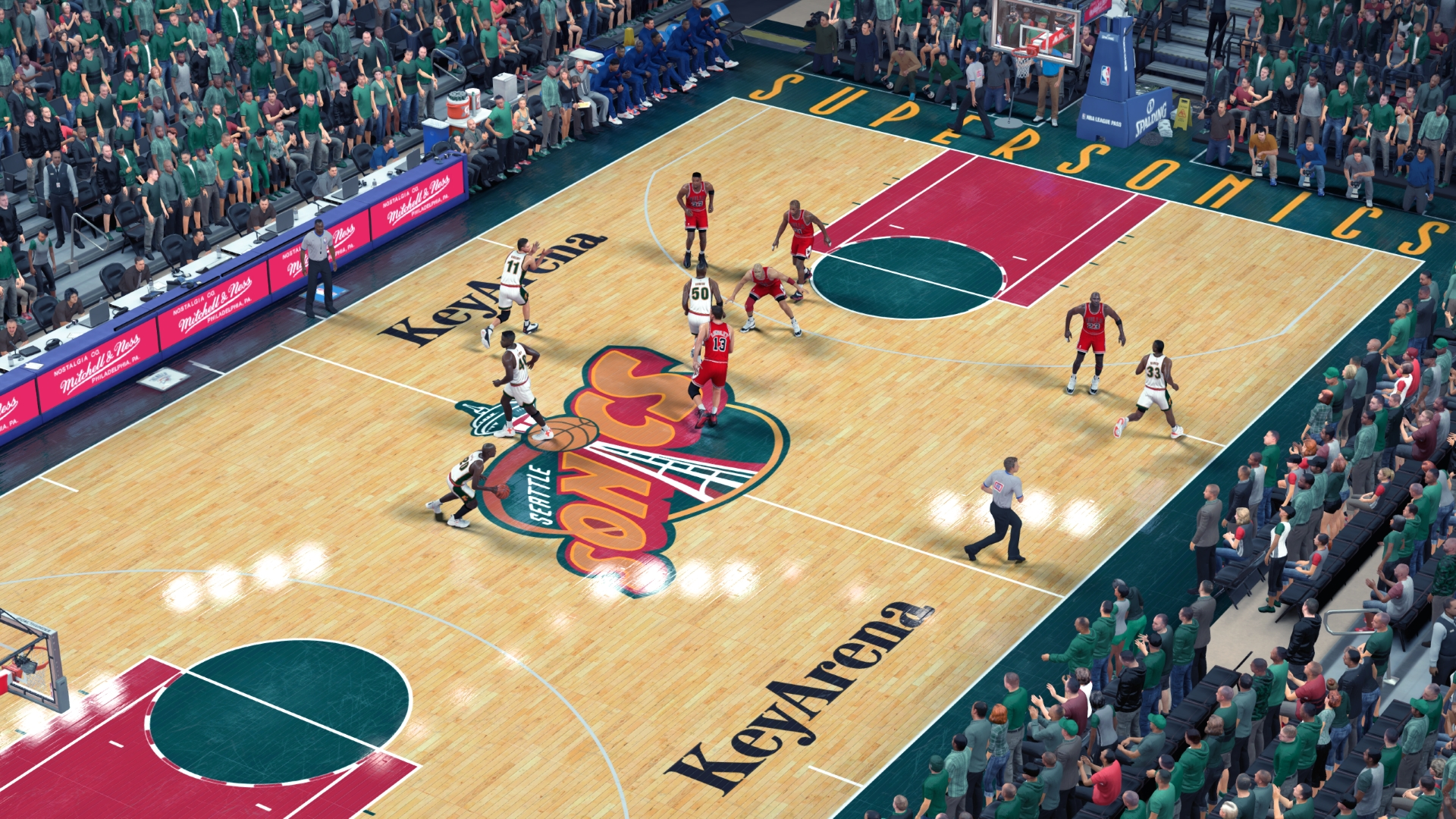 1995/1997 Seattle SuperSonics Court - Key Arena