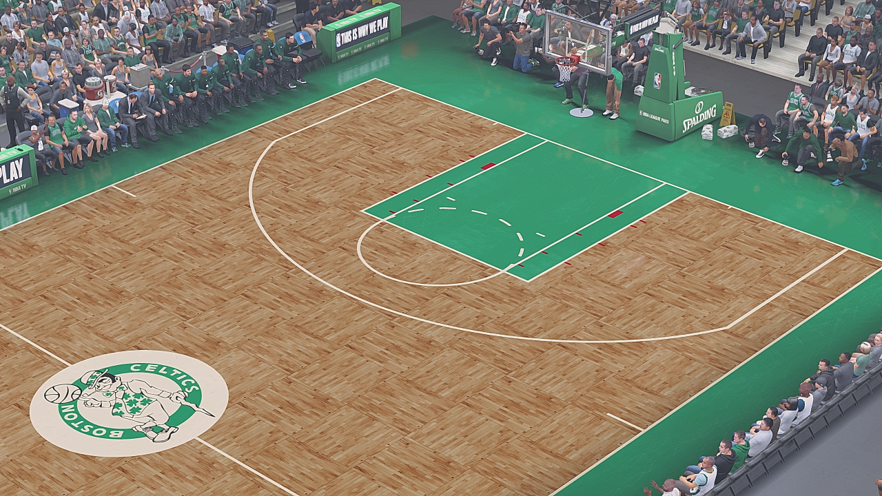 1995/96 Boston Celtics Court - Fleet Center
