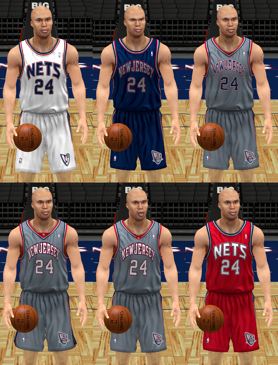 2000s New Jersey Nets Uniforms