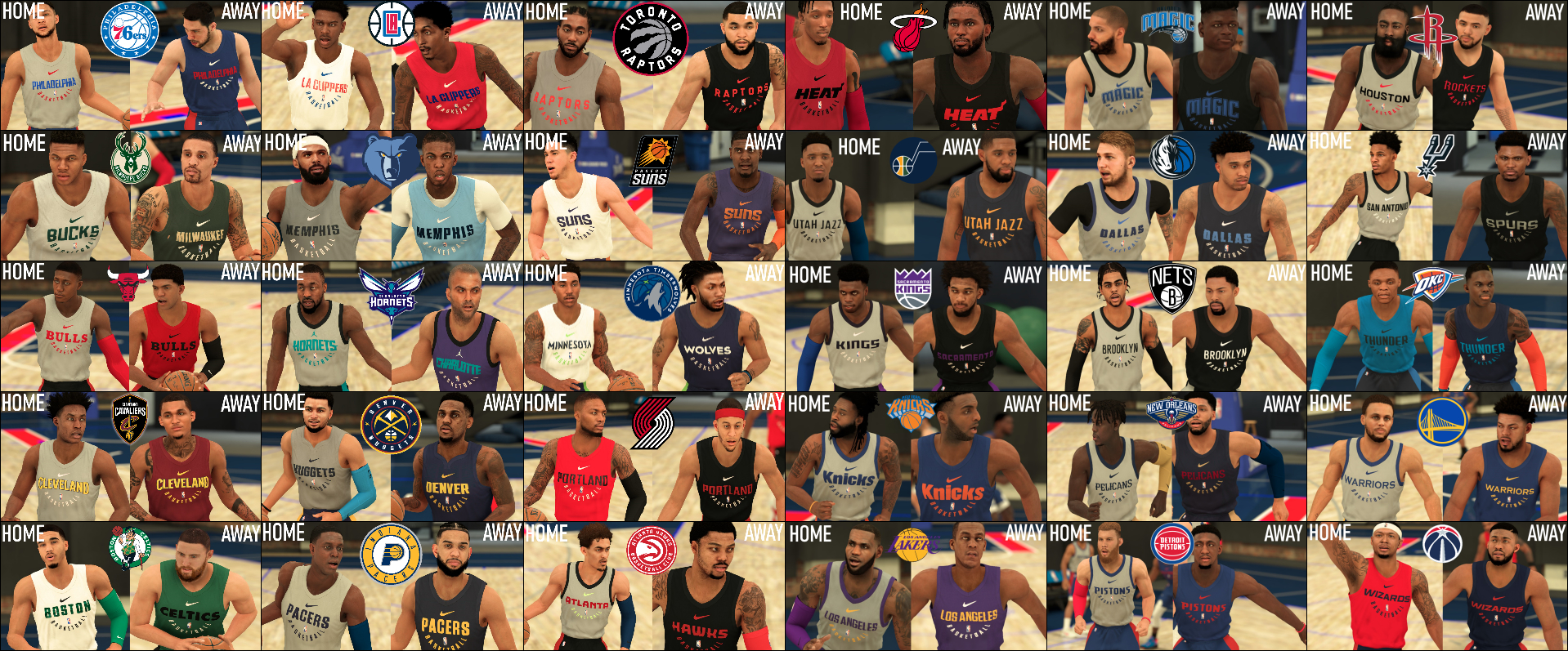30 Teams Pack - Scrimmage, Training, Summer League Jerseys