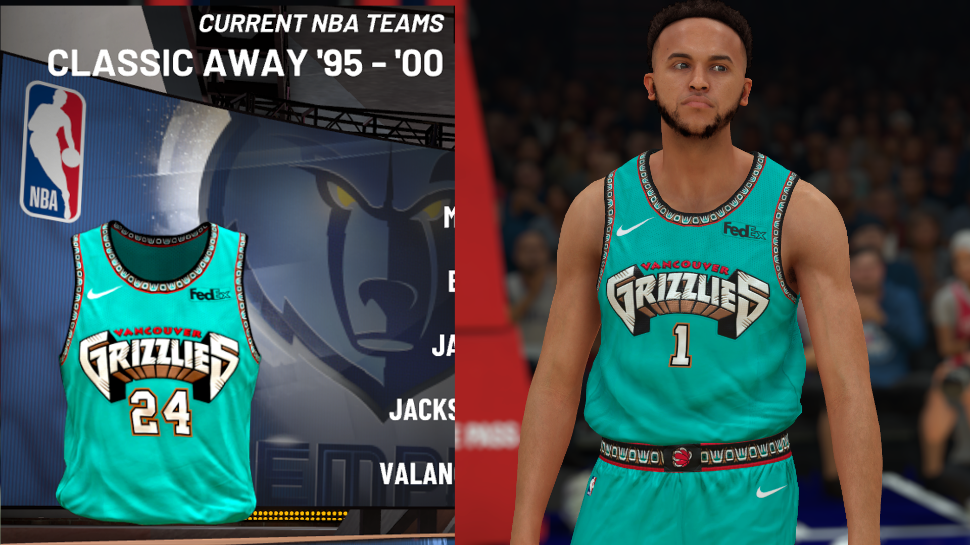 Memphis Grizzlies Vancouver Throwback Jersey (pinoy21)