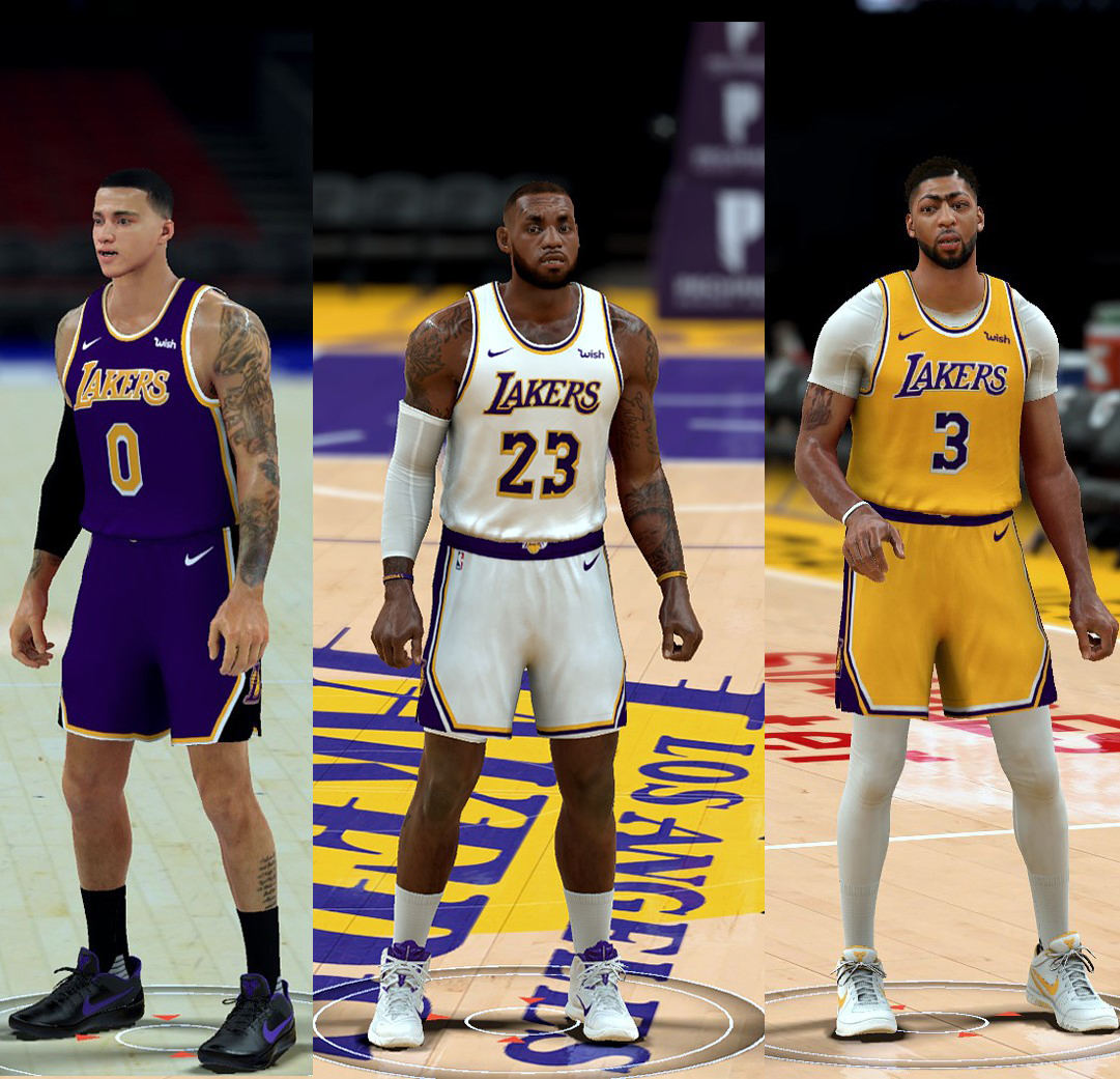 Los Angeles Lakers Nike Jerseys Pack