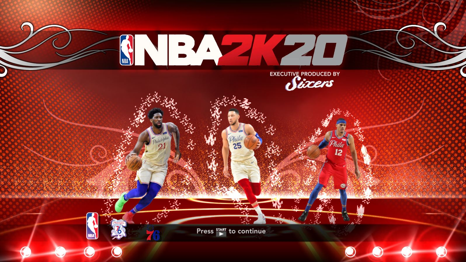 Philadelphia 76ers Title Screen