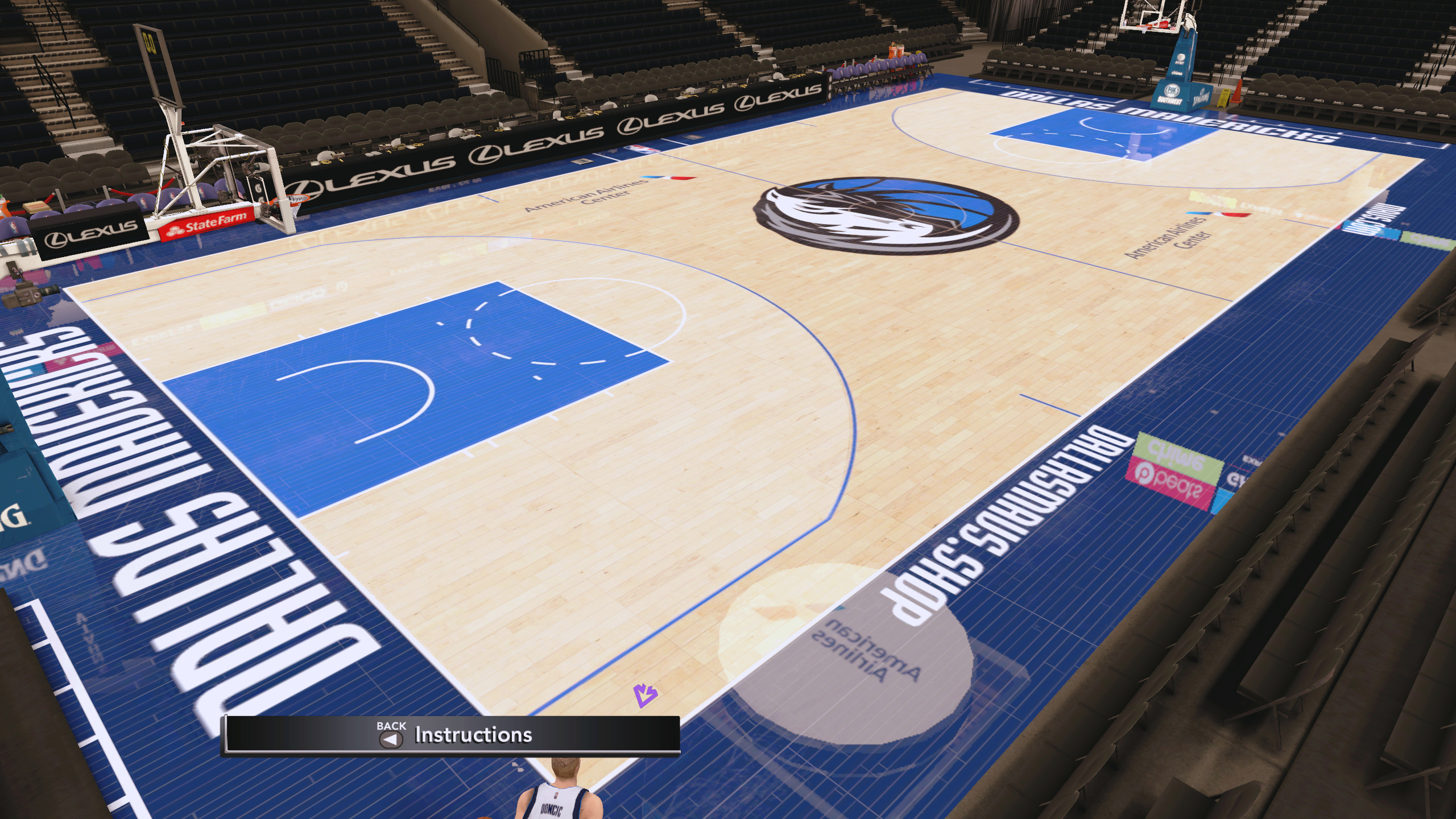 Dallas Mavericks 2019-20 Courts