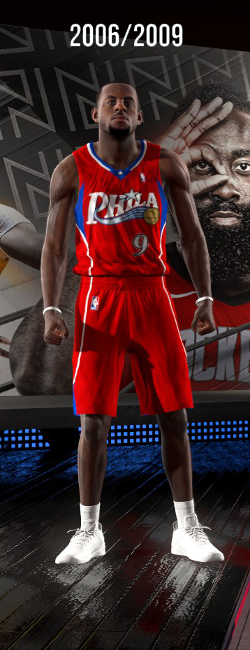 2006-2009 Philadelphia 76ers Alternate Uniform