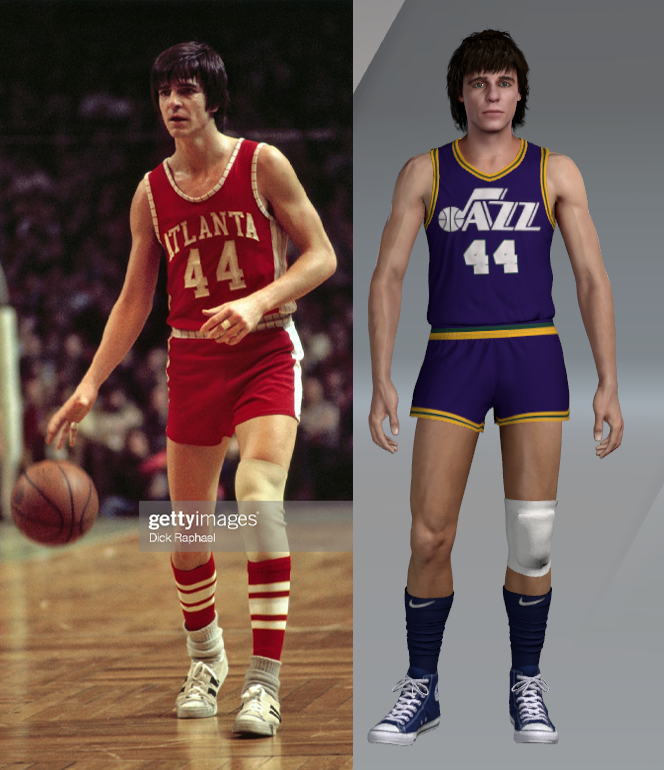 1974 Pete Maravich Face