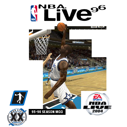 1995/1996 Season Mod for NBA Live 2004