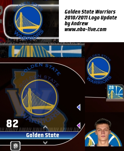 Golden State Warriors 2010/2011 Logo Patch