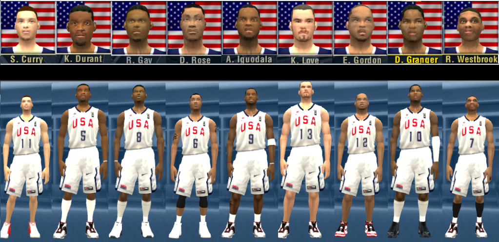 9 USA Team 2010 Faces Pack