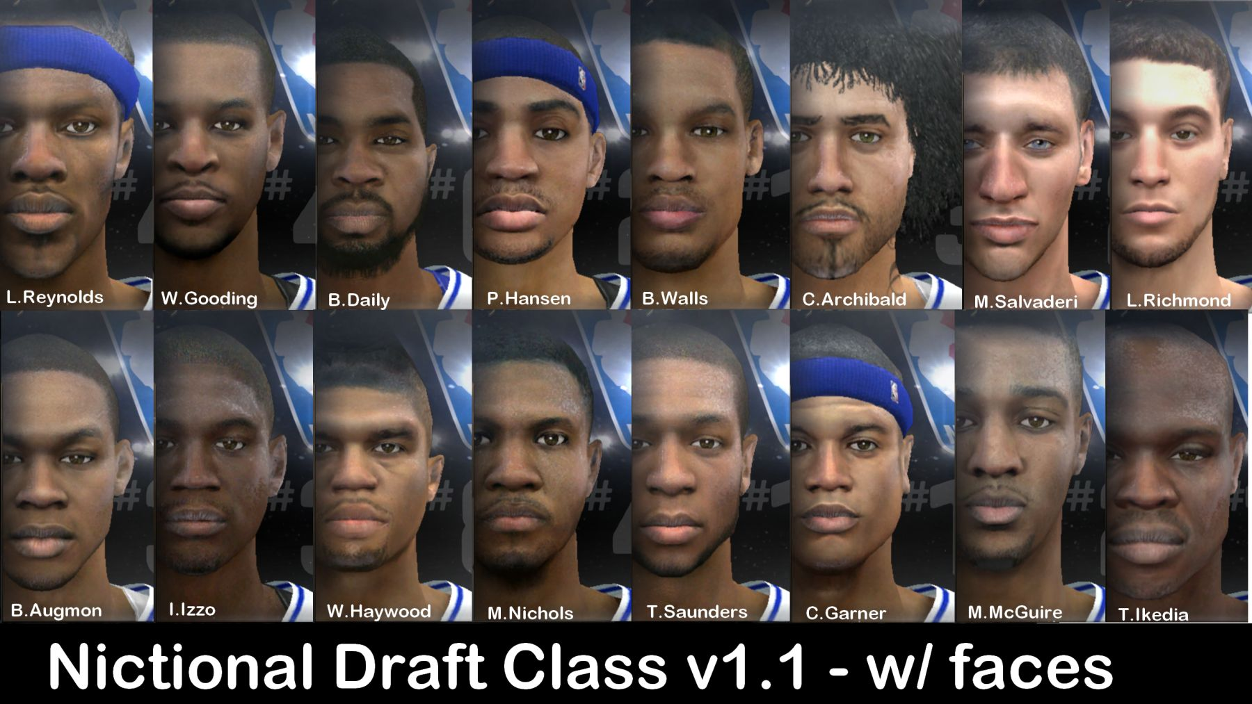 Fictional Draft Class with Realistic Cyberfaces