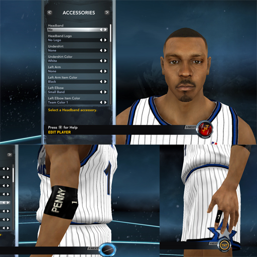 Penny Hardaway Face with Accessories
