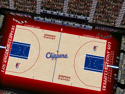 Los Angeles Clippers 2011/2012 Court Patch