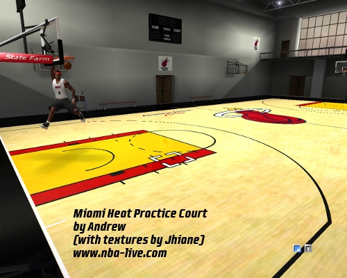 Miami Heat Practice Court Patch