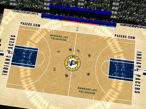 Indiana Pacers Court Patch