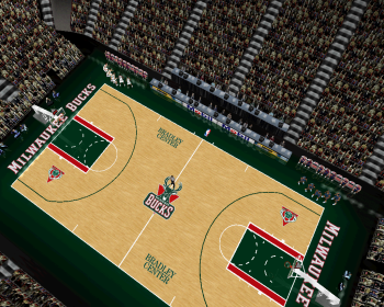 Milwaukee Bucks Court Patch