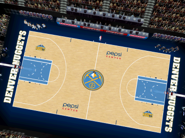 Denver Nuggets Court Patch