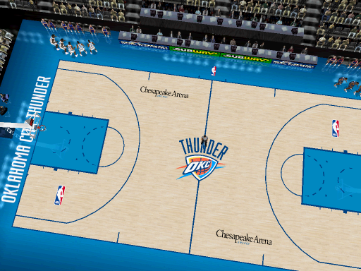 Oklahoma City Thunder Court Patch