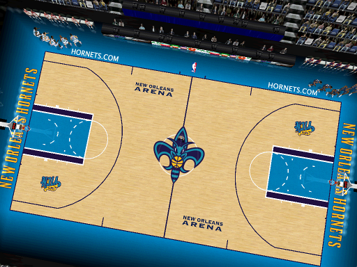 New Orleans Hornets Court Patch