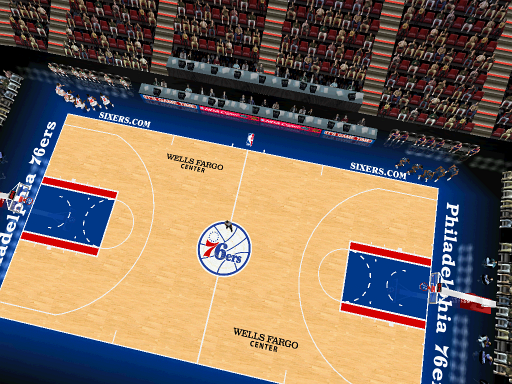 Philadelphia 76ers Court Patch