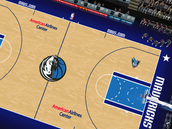 Dallas Mavericks Court Patch