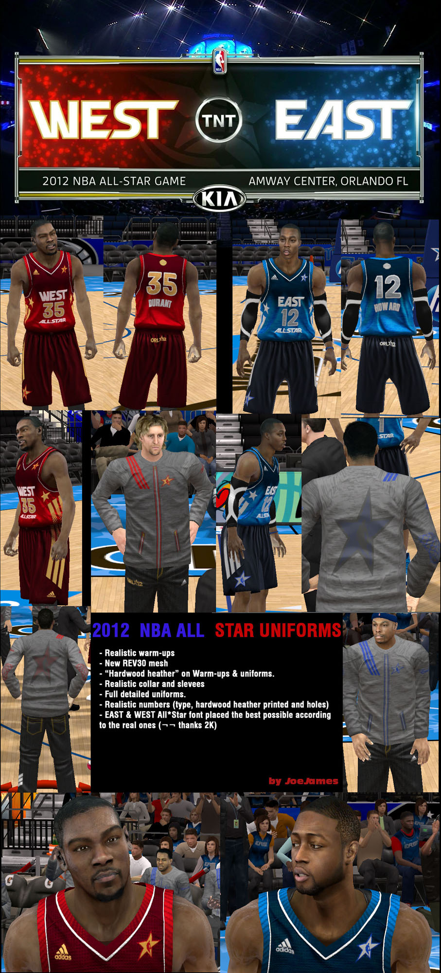 2012 NBA All-Star Uniforms