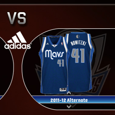 Dallas Mavericks 2011/2012 Alternate Jersey Portrait