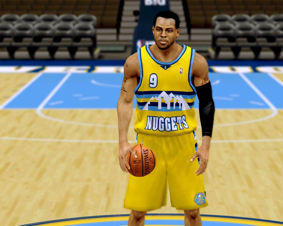 Denver Nuggets Yellow Alternate Jersey